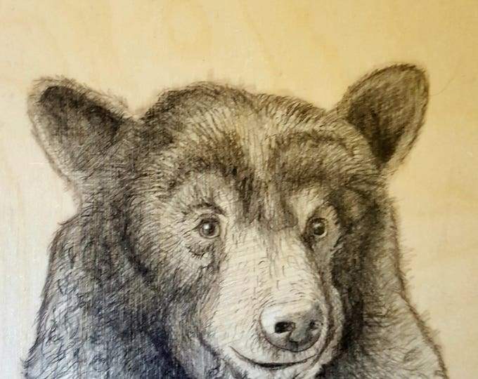 Bear - Original drawing on wood by Mr. Hooper of Nashville, Tennessee