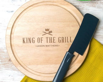 Fathers day grilling 'King Of The Grill' Cutting Board Serving Board Fathers day grilling gift Father's Day Gifts - NOW 50% OFF!!