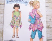 Simplicity 2716 Daisy Kingdom girls sewing pattern with dress pants and top sizes 3-4-5-6-7-8