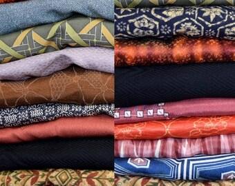 Vintage Japanese Haori Take Apart Bundle Fabric Crafting - 10 Haori