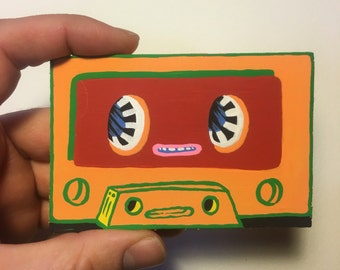 1970's cassette tape buddy painting