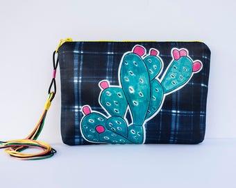 Clutch bag by Marta Fofi, cactus bag, hand made bags, hand made purses, clutch bag, clutch handbag, evening clutch