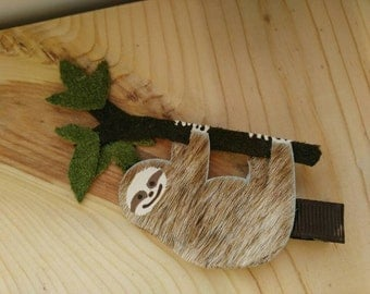 Sloth Furry Three-toed Leather Hair Clip #4
