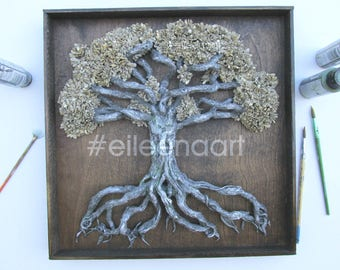 Love locks tree - Family tree- Tree of life wedding tree - Personalized for  Wedding or Anniversary - couple gift by eileenaart