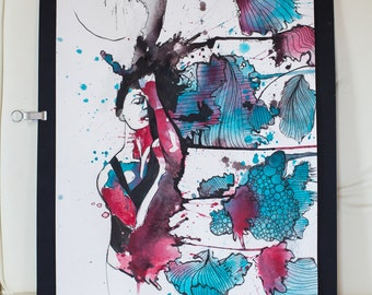 Interdimensional-original watercolor and ink SALE