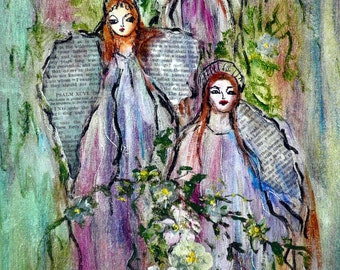 Angels and Flowers  -   print - 8 x 10 photo prints buy 2 get 1 free