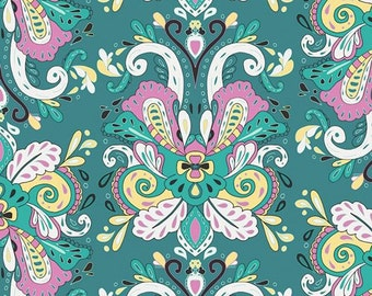 Poetic Saddle Iris Art gallery fabric