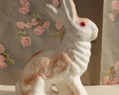 Vintage Rabbit Bunny Easter Paper Mache Candy Container
