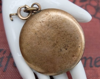 Vintage Plain Locket Antique Brass Pendant
