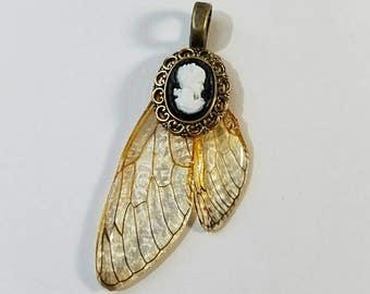 Winged Cameo Pendant