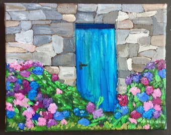 Mass of Hydrangeas Daily Painting Oil Painting