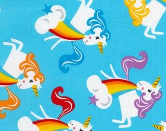 Timeless Treasures, Unicorns Barfing Rainbows,  1 yard