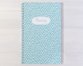 flowers personalized notebook - choose your color