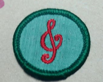Vintage Girl Scout Merit Badge/Patch MUSICIAN