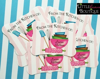 Kitchen Stickers,Kitchen Supplies,Packaging labels,Personalized labels,baking labels, Baking Stickers,Whisk Mixing bowls,Rubber Spatulas