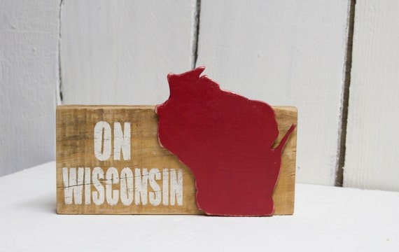 Wood Wisconsin Sign | Reclaimed Wood Wisconsin Sign | On Wisconsin Wood  Sign | Wisconsin Shelf - Wood Wisconsin Sign Reclaimed Wood Wisconsin Sign On