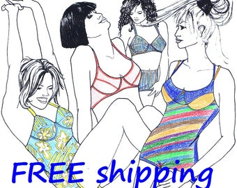 FREE Ship Pattern BHB40 for 2 Bras Body  Swim suit
