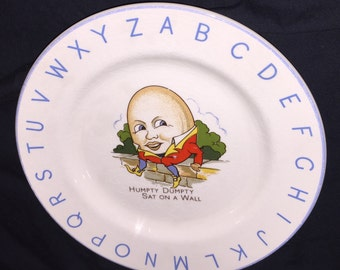 Vintage Lord Nelson Humpty Dumpty Child's Plate