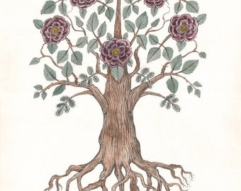 Rose Tree - Original Drawing