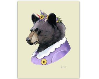 Mama Black Bear art print by Ryan Berkley 5x7