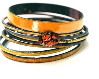 Handmade Bangle - 'Foxy Gent' - Gift for Her