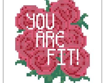 Valentryin' Cross Stitch Pattern 002 - You Are Fit!