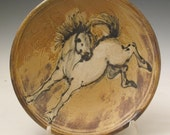 Plate with hand painted horse