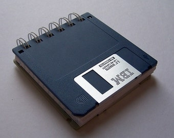 Recycled Floppy Disk notebook, Upcycled Computer Diskette