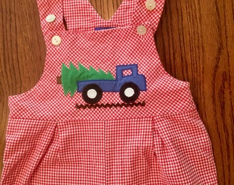 Houndstooth Overalls 3T