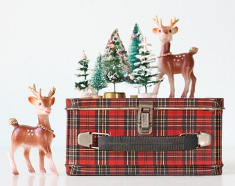 Vintage Plaid Lunch Box, by Aladdin Industries