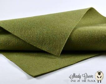 Shady Grove Wool Felt, Merino Wool Blend Felt, Wool Felt Yardage, Wool Felt Fabric, Green Felt Fabric, Green Felt Yardage, Green Felt