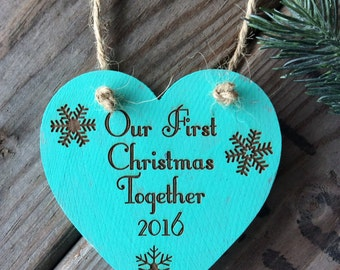 Our First Christmas Together Ornament, First Christmas, Newly Wed Ornament