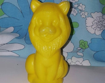Vintage plastic Yellow Lion USSR figure toy