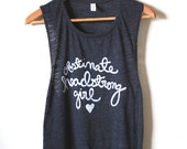 """Jane Austen Quote """"Obstinate, headstrong girl""""- Pride and Prejudice- Yoga Tank Top, Muscle Tank. MADE TO ORDER"""