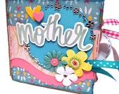 Mother Paper Bag Scrapbook - Mother Photo Album -  Mom Paper Bag Album