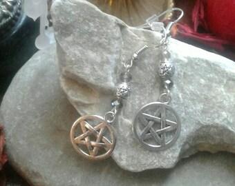 Pentacle Dangle Earrings