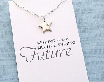 SALE - Graduation Gifts for Her | Inspirational Star Necklace, Graduation Gifts, Student Gifts, Class of 2017, Graduation Gifts, High School