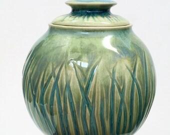 Porcelain Sugar Jar - Summer Breeze -MADE TO ORDER