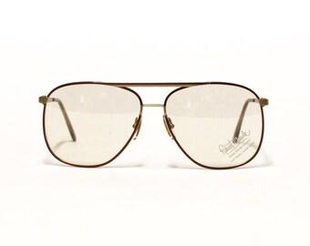 Vintage Aviator Mens Eyeglass frame - ROBERT CLAUDE - French Designer Eyeglasses in unworn deadstock condition