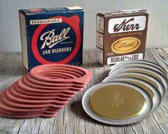 Kerr Lids & Ball Jar Rubber Rings, General Store Decoration, Canning Kitchen, Regular No. 11