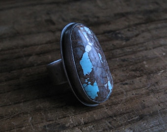 Sterling Silver and American Royston Turquoise Ring Size 8.5