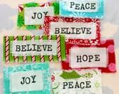 Custom Listing for Christine - Printed Holiday Words