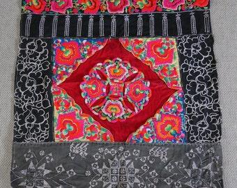 Textiles -  Hmong Baby Carrier/ Hmong / Miao fabric - 7025