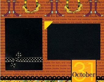 October 31 - Premade Halloween Scrapbook Page