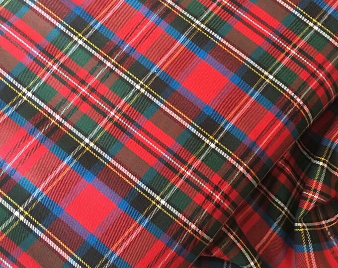 Tartan Plaid, Red Plaid Fabric, Plaid Scarf fabric, Lightweight Plaid fabric, Tartan Plaid Scarf fabric, Plaid Shirting, House of Wales