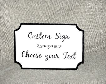 Choose your Text Custom Wooden Sign, Office Business or Home Decor, Workplace Therapy Plaque, Wall Door Window Hanging, Design Your Own Sign