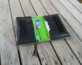 Wallet made from recycled bike inner tube card holder