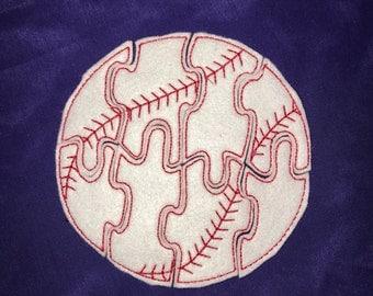 Custom Embroidered Felt Baseball Puzzle Quiet Toy