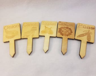 Set of 5 Garden Markers Clearance Ready to Ship