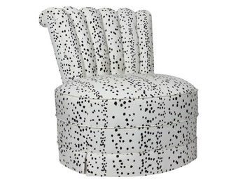Dalmatian Slipper Chairs (Pair)